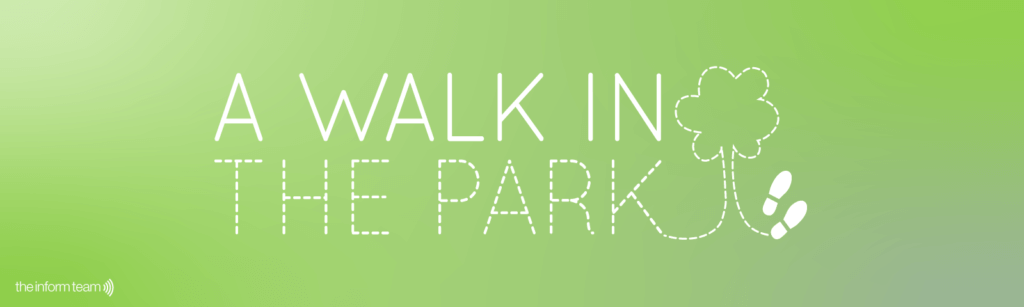 Graphic to represent our sponsored walk in the park