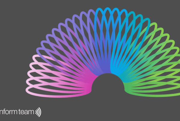 A slinky featuring our Inform colours