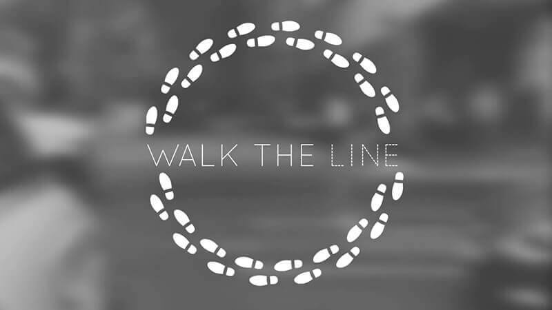 Video thumbnail stating the quote Walk the Line for our walk for Charity with Northern Lights