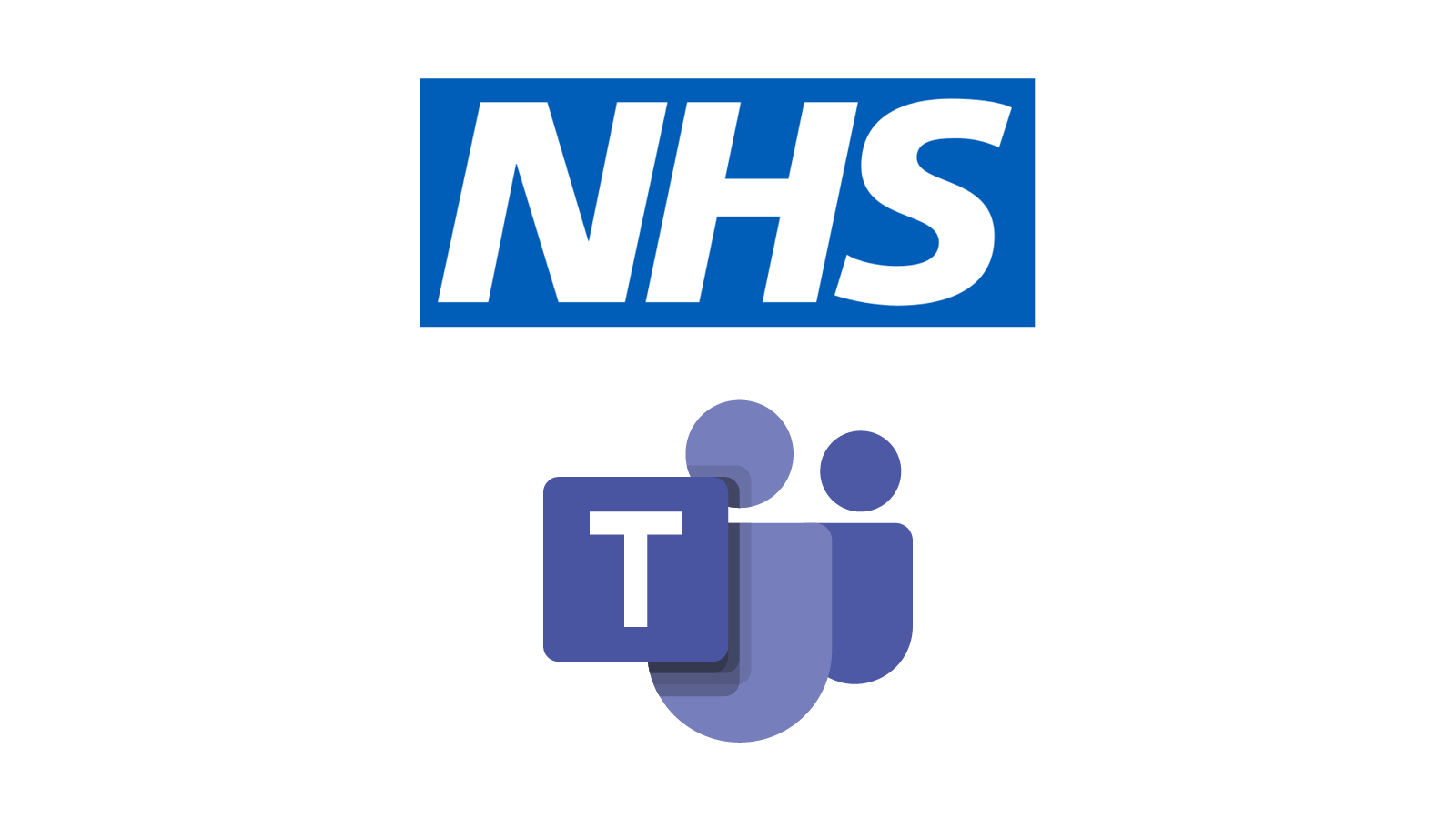 Logos for the NHS and Microsoft Teams