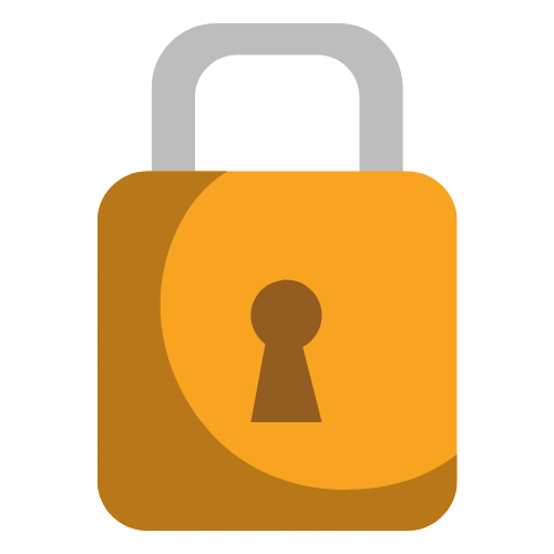 Padlock representing safety with Microsoft Teams